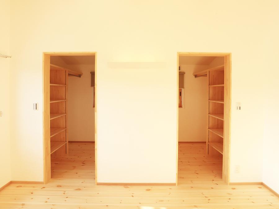 それぞれ個人の収納を設け、整理しやすく。