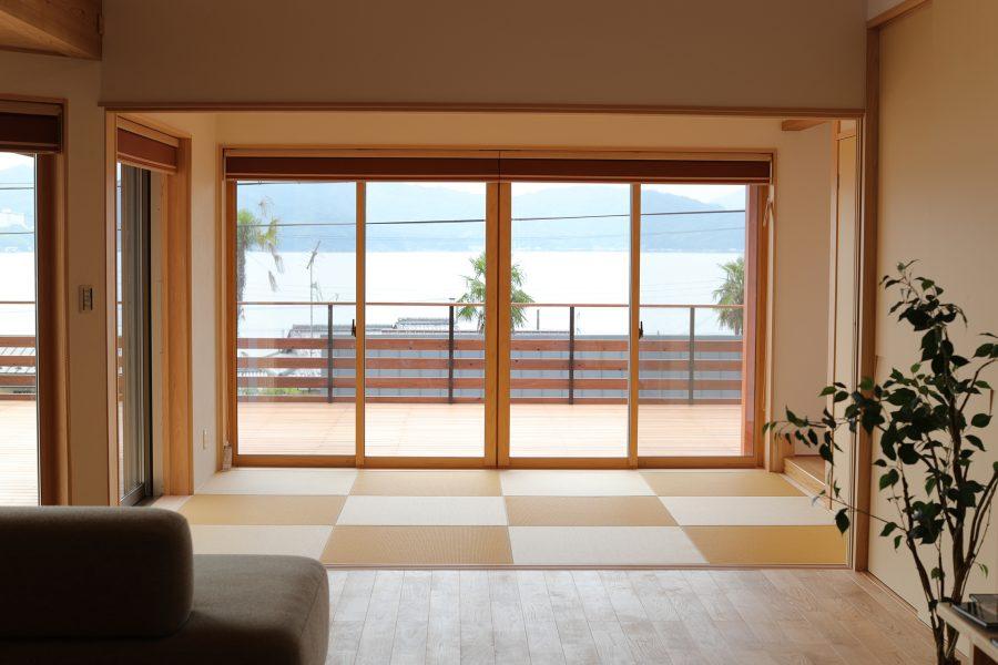 見晴らしのいい和室。