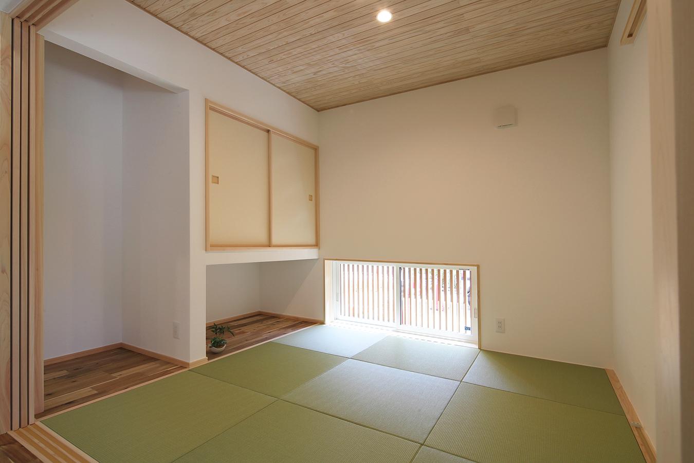 客間にも将来の寝室としても使える 落ち着きのある和室